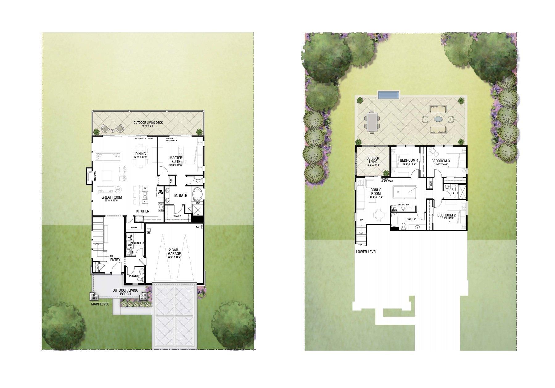 Floor Plan 15x 2 Story